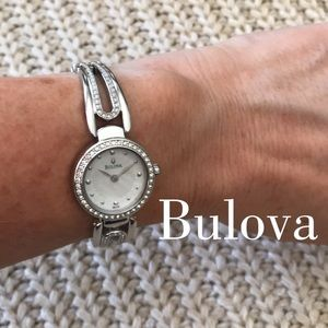 Bulova Crystal Collection Ladies Silver Watch